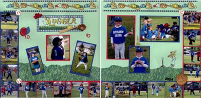 Isabel's Scrapbook Store T-Ball sample layout